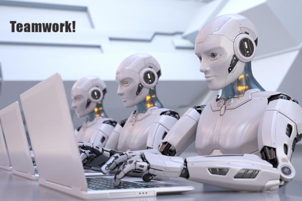 Robots teamwork