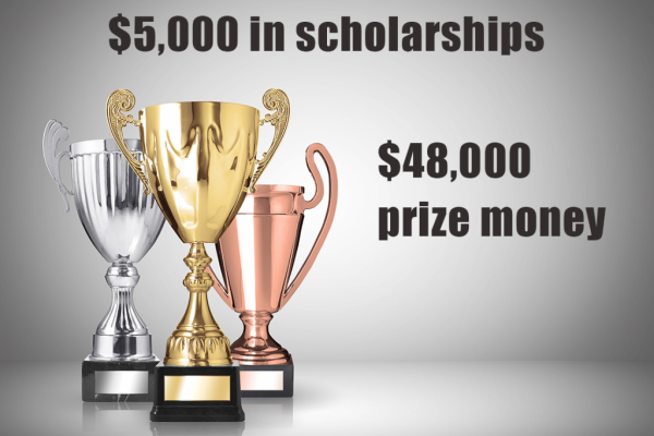 trophies with prize money
