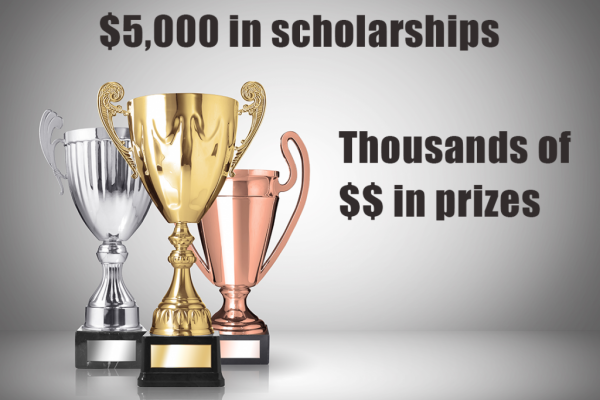 Thousands of dollars in prizes